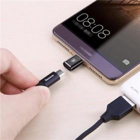 Baseus Micro USB Female to USB Type C OTG Adapter - CAMOTG-01 - Black - 5