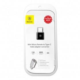 Baseus Micro USB Female to USB Type C OTG Adapter - CAMOTG-01 - Black - 10
