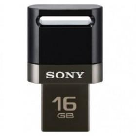 Sony USM16SA1 MicroVault USB Flash Drive OTG - 16GB - Black