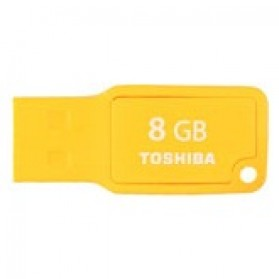 Toshiba TransMemory Mini USB 2.0 Flash Drive 8GB - UMKW-008GM-YL - Yellow