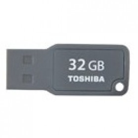 Toshiba TransMemory Mini USB 2.0 Flash Drive 32GB - UMKW-032GM-GY - Black