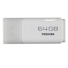 Toshiba Hayabusa USB Flash Drive 64GB - THN-U202W0640 - White