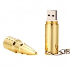 Bullet Shape USB 2.0 Flashdisk 16GB - Golden - 2