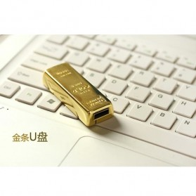 Gold Bar USB 2.0 Flash Drive - 16GB - Golden - 2