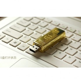 Gold Bar USB 2.0 Flash Drive - 16GB - Golden - 3
