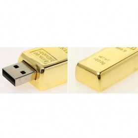Gold Bar USB 2.0 Flash Drive - 16GB - Golden - 4