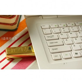 Gold Bar USB 2.0 Flash Drive - 16GB - Golden - 5