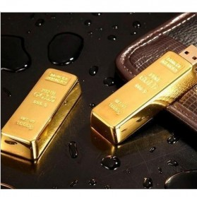 Gold Bar USB 2.0 Flash Drive - 16GB - Golden - 8