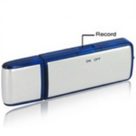 USB Flashdrive Sound Voice Recorder / Flashdisk Perekam Suara - 8GB - White/Blue