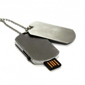 Flashdisk Dog Tag USB 2.0 16GB - Silver