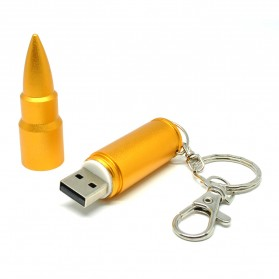 Bullet Shape USB 2.0 Flashdisk 16GB - Model 2 - Golden - 2