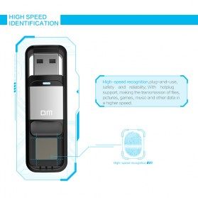 DM Flashdisk Enkripsi Fingerprint 32GB - PD061 - Black - 6