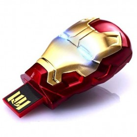 Iron Man Head USB 2.0 Flashdisk - 8GB - Red - 1