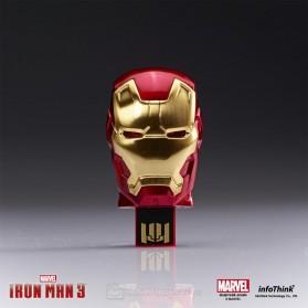 Iron Man Head USB 2.0 Flashdisk - 8GB - Red - 3