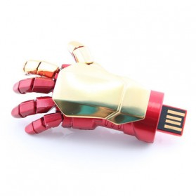 Iron Man Gloves USB 2.0 Flashdisk - 8GB - Red