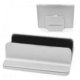 Dudukan Laptop Vertical Stand Holder Alumunium Adjustable - AF-26D - Silver