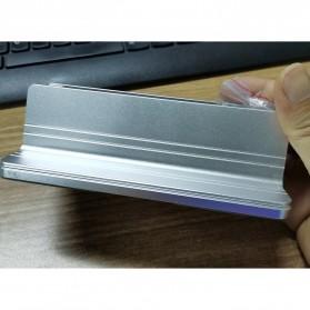 Dudukan Laptop Vertical Stand Holder Aluminium Adjustable - AF-26D - Silver - 2