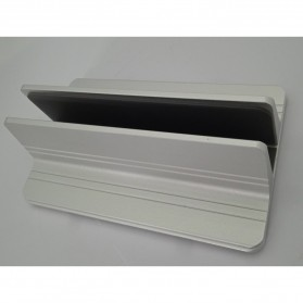 Dudukan Laptop Vertical Stand Holder Aluminium Adjustable - AF-26D - Silver - 3