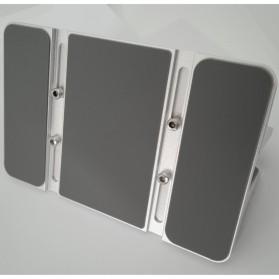 Dudukan Laptop Vertical Stand Holder Aluminium Adjustable - AF-26D - Silver - 4
