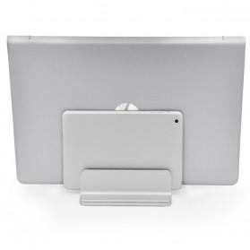 Dudukan Laptop Vertical Stand Holder Aluminium Adjustable - AF-26D - Silver - 5