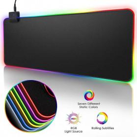 iAhead Gaming Mouse Pad XL RGB LED 300 x 900 mm - RGB-03 - Black