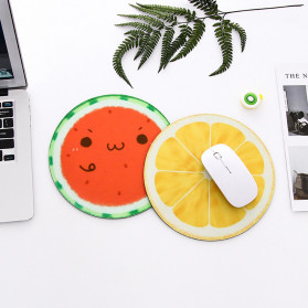 Comfast Mouse Pad Bulat Anti Slip Fruit Series 220mm - 3C - Red - 2