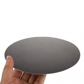ESHYLALA Aluminum Mouse Pad Smooth Thin Circle - SKY-054 - Black - 2