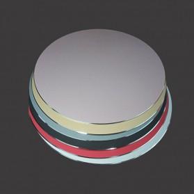 ESHYLALA Aluminum Mouse Pad Smooth Thin Circle - SKY-054 - Black - 4