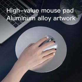 ESHYLALA Aluminum Mouse Pad Smooth Thin Circle - SKY-054 - Black - 6