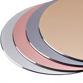 ESHYLALA Aluminum Mouse Pad Smooth Thin Circle - SKY-054 - Black - 8