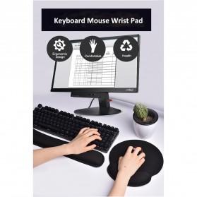 Sovawin Ergonomic Keyboard Wrist Rest Pad Support Memory Foam - SH-JPD - Black - 4