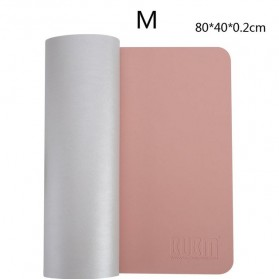 BUBM Office Mouse Pad Desk Mat Bahan Kulit 40 x 80cm - BGZD-M - Pink