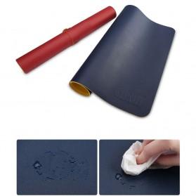 BUBM Office Mouse Pad Desk Mat Bahan Kulit 40 x 80cm - BGZD-M - Black/Red - 3