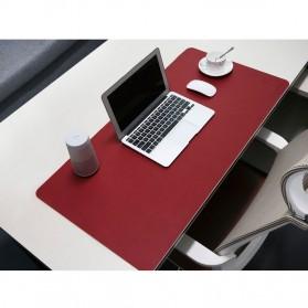 BUBM Office Mouse Pad Desk Mat Bahan Kulit 40 x 80cm - BGZD-M - Black/Red - 5