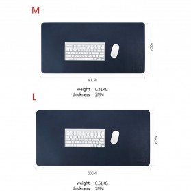 BUBM Office Mouse Pad Desk Mat Bahan Kulit 40 x 80cm - BGZD-M - Black/Red - 6
