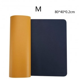 BUBM Office Mouse Pad Desk Mat Bahan Kulit 40 x 80cm - BGZD-M - Blue