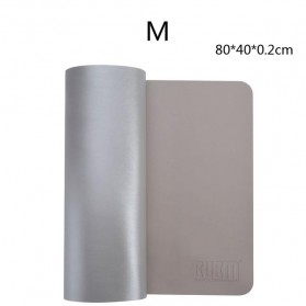 BUBM Office Mouse Pad Desk Mat Bahan Kulit 45 x 90cm - BGZD-L - Gray