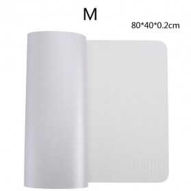 BUBM Office Mouse Pad Desk Mat Bahan Kulit 45 x 90cm - BGZD-L - White