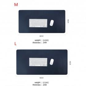 BUBM Office Mouse Pad Desk Mat Bahan Kulit 45 x 90cm - BGZD-L - Blue - 2