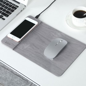 BUBM Smartpad Mousepad Wood Material with Wireless Charging - WXCD-A - Gray
