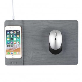 BUBM Smartpad Mousepad Wood Material with Wireless Charging - WXCD-A - Gray - 2