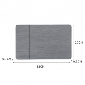 BUBM Smartpad Mousepad Wood Material with Wireless Charging - WXCD-A - Gray - 6