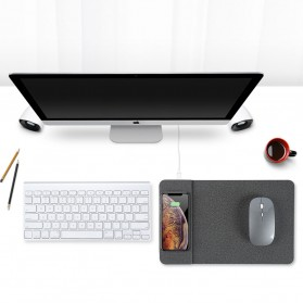 BUBM Smartpad Mousepad Wood Material with Wireless Charging - WXCD-A - Gray - 7