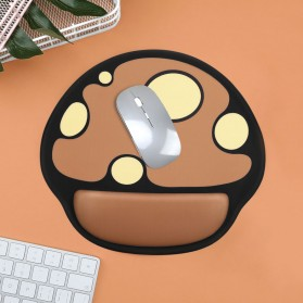 BUBM Cute Cartoon Mousepad with Silicone Gel Wrist Pad - GSM-C - Mix Color - 6