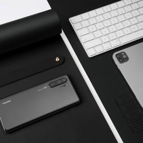 BUBM Office Mouse Pad Desk Mat Bahan Kulit 60x30cm - BGZD-RS - Black - 4