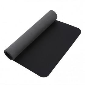 BUBM Office Mouse Pad Desk Mat Bahan Kulit 60x30cm - BGZD-RS - Black - 6