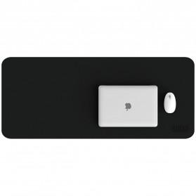 BUBM Office Mouse Pad Desk Mat Bahan Kulit 60x30cm - BGZD-RS - Black - 7