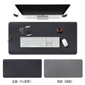 BUBM Office Mouse Pad Desk Mat Bahan Kulit 60x30cm - BGZD-RS - Black - 9