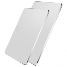 Metal Mouse Pad Rubber Feet (240 x 180 x 3mm) - Silver