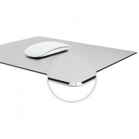 Metal Mouse Pad Rubber Feet (240 x 180 x 3mm) - 151210 - Silver - 2